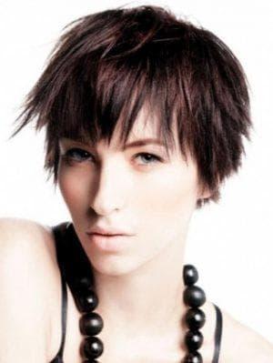 рок причёски на короткие женские волосы