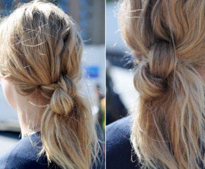 причёска классический узел в школу