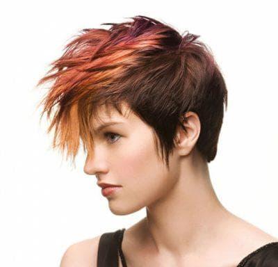 рок ирокез на средние женские волосы