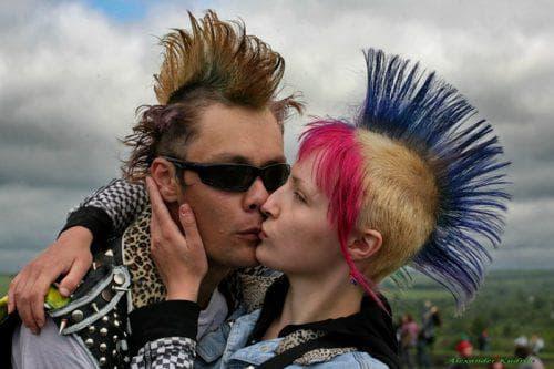 прическа панк мужчина и женщина