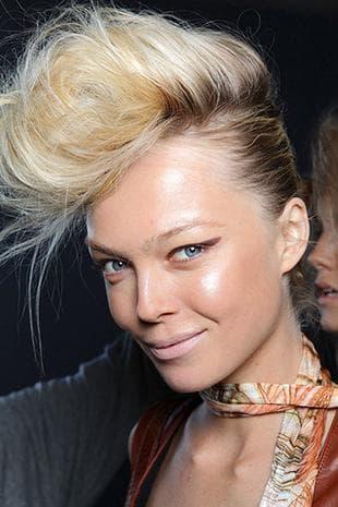 рок причёска на средние женские волосы