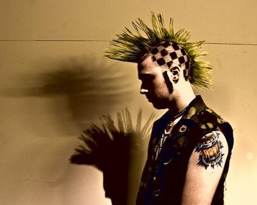 причёска панк мужчина техника