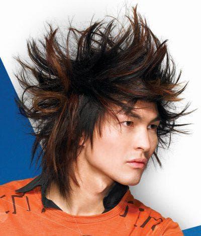рок причёска на длинные мужские волосы