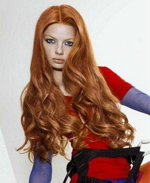 рыжий золотистый цвет волос