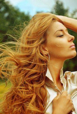 янтарный золотистый цвет волос