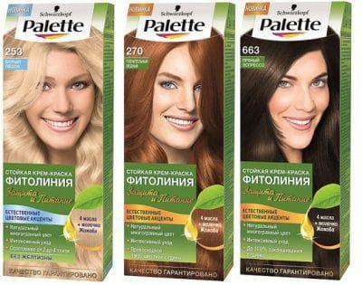 палитра краски +для волос палет фитолиния