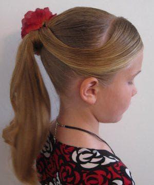 причёска хвост для девочки