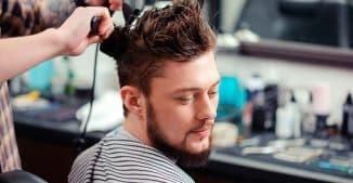 укладка мужских волос