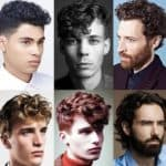 Мужские прически для кудрявых волос разной длины
