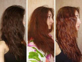 смыть чёрную краску с волос