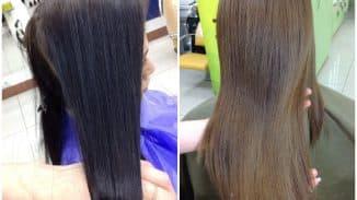 смыть безаммиачную краску с волос