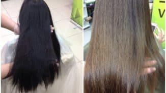 смыть краску с чёрных волос