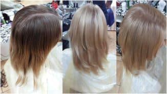 смыть краску со светлых волос
