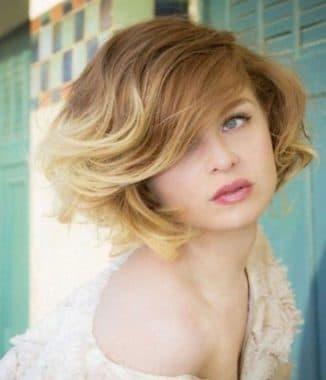 красивые короткие волосы при брондировании