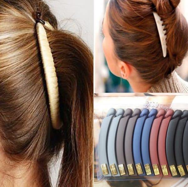 заколка банан для волос для девочек