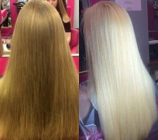 убрать желтизну волос луком