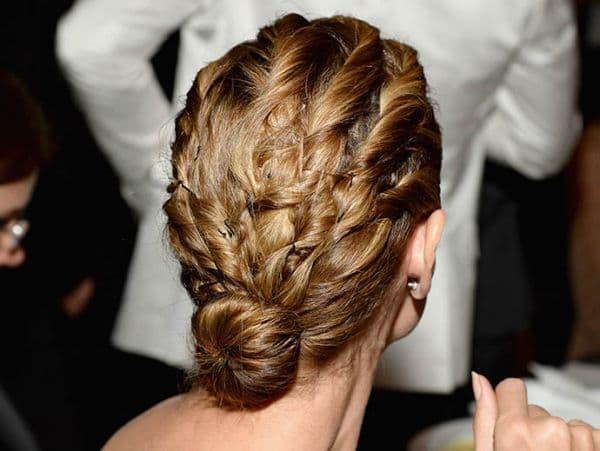плетение со жгутами на короткие волосы